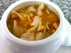 Chicken Soup for the Sick Soul - The Fit Cook - Healthy Recipes - Skinny Recipes healthier version of Chicken soup