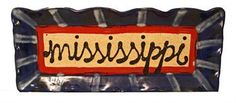 Mississippi Plate Red and Blue