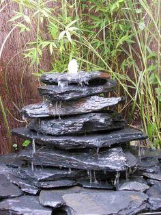 Stunning Kaskaden Brunnen grauschwarz teilig Vorschau