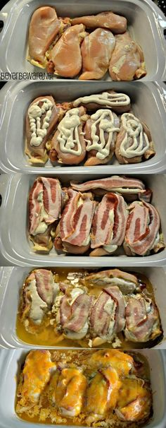 Crock Pot Bacon Ranch Chicken Recipe - Just 4 ingredients of chicken, bacon, cheese, and ranch dressing for an easy Keto Chicken Bacon Ranch recipe. # Food and Drink meals crock pot Keto Crock Pot Bacon Ranch Chicken Recetas Crock Pot, Crock Pot Food, Crockpot Dishes, Crock Pot Slow Cooker, Slow Cooker Recipes, Low Carb Recipes, Cooking Recipes, Crock Pots, Keto Crockpot Recipes
