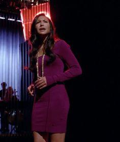 """Santana's GUESS Long-Sleeve Pinwheel Dress Glee Season 4, Episode 13: """"Diva"""""""