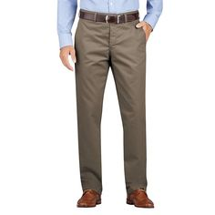 Men's Dickies Regular-Fit Wrinkle-Resistant Khaki Dress Pants, Size: 36X30, Brown Oth