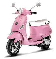 Vespa looks even prettier in Pink!