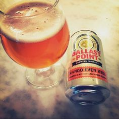 Under 4% and still packs a punch...plus mango - Mango Even Keel by Ballast Point Brewing @ballastpointbrewing at @astoriawbnc  #ballastpoint #mango #astoriabierandcheese #craftbeer