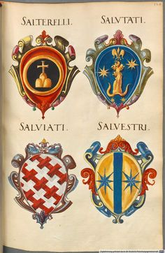 Insignia Florentinorum - BSB Cod.icon. 277, [S.l.] Italian, 1550-1555, http://opacplus.bsb-muenchen.de/search?oclcno=165874366 view the whole book here: http://daten.digitale-sammlungen.de/~db/bsb00001424/image_1