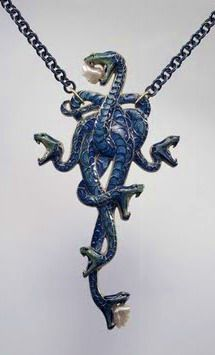 Serpent pendant with pearls by Rene Lalique