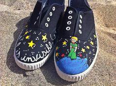 Unique sneakers The little Prince por nachimori en Etsy