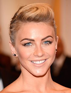 Julianne Hough: Makeup artist Molly Stern created these dramatic lashes using CoverGirl Flamed Out Mascara and individual false lashes on the bottom.