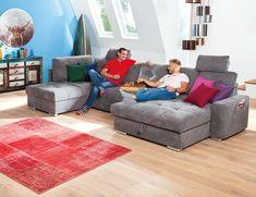 Die Wohnlandschaft Lima punktet mit edler Optik, bietet großzügig Platz für Familie und Freunde und ist ein toller Blickfang für euer Wohnzimmer! Noch praktischer und perfekt für Gäste ist die Bettfunktion. Jetzt entdecken auf leiner.at // Wohnzimmer einrichten // Wohnzimmer Ideen // Interior Trends // Wohnideen // Einrichtungstipps Wohnzimmer // Couch // Polstergarnitur // Gästezimmer einrichten // Schlafsofa Textiles, Lima, Floor Chair, Flooring, Contemporary, Rugs, Furniture, Home Decor, Products