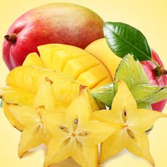 Star Fruit and Mango Fragrance Oil:   A refreshing blend of fresh star fruit and mangos, rounded out with notes of strawberry and peach.  #fragrance #fragranceoil #fragranceoils