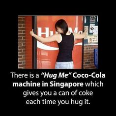 """""""Hug Me"""" Machine in Singapore  Follow +Interesting Things for more."""