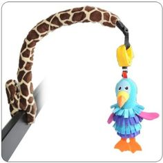 : BabyGiraffe bendable arm that holds toy, bottle, safety mirror and sun shade holder for stroller or carseat. (Toy, Bottle, and Car Seat not included.) $29.95