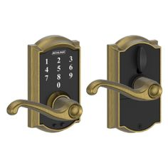 Schlage Touch™ Keyless Touchscreen Lever with Camelot trim and Flair Lever