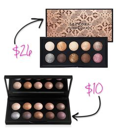 ELF Baked Shadows and Sephora Baked Shadows are near perfect dupes. Click for more Splurge vs Steal: ELF Makeup Dupes You Can't Resist