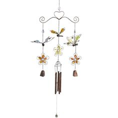 Butterfly & Bells Wind Chimes - Outdoor