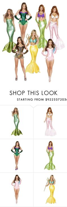 """""""Mermaid Halloween Costume Galore @Musotica.com"""" by musotica ❤ liked on Polyvore"""