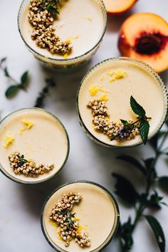 UOGoals: Make some deliciously yummy!  vegan vanilla peach panna cotta | recipe via willfrolicforfood.com