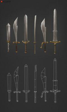 Low Poly Swords - 630 polys by bitgem