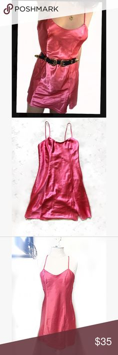 RARE VINTAGE PINK SATIN DRESS VINTAGE Pink Satin Slip or Dress or Nighty! Size Small! Amazing condition, fantastically cleaned. Super similar Dress on sale for 60 dollars without shipping on princess Polly! This totally gives off My Date W/ The Presidents Daughter movie vibes from Disney! Her pink dress 😍 Regardless comment if you remember that movie Dresses