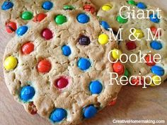 Learn the secret for making perfect giant M and M cookies every time.