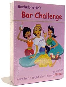 Bachelorette Bar Challenge Game: Stagette  games for the perfect Bachelorette Party
