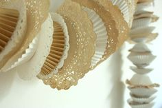 DIY Doily and Cupcake Liner garland. This was easy and cute!