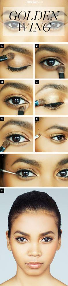Makeup How-To: Golden Wing Eyeliner