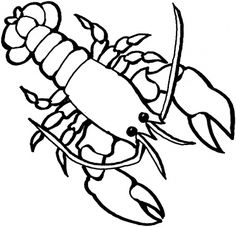lobster coloring page coloring page