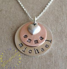 cute for children's names  Personalized Initial Necklace Sterling Silver Charms by blingmoon, $42.00