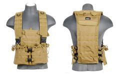 Lancer Tactical Tan CA-309T M4 Airsoft Molle Chest Rig