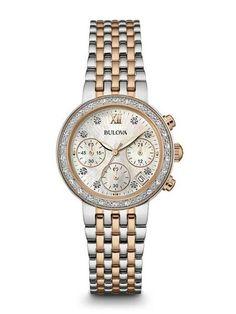 Bulova 98R215 Women's Chronograph Diamond Watch