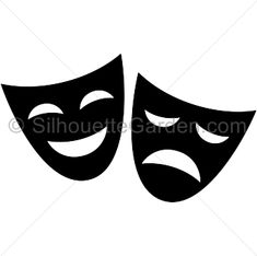 Tragedy and Comedy Masks still represent Drama and Theatre