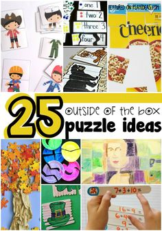 25 Outside Of The Box Puzzle Activities