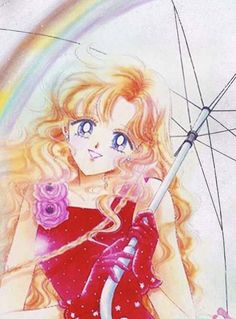 "Art from ""Rain Kiss"" (""Prism Time"" collection) by manga artist & ""Sailor Moon"" creator Naoko Takeuchi. Sailor Moon Usagi, Sailor Moon Art, Sailor Jupiter, Sailor Moon Crystal, Sailor Venus, Vintage Drawing, Vintage Art, Anime Comics, Sailor Moon Official"