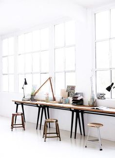 8 easy workspaces. - sfgirlbybay