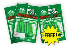Dog & Cat Repellents.  Ridiculous I have to pay this to keep those damn things in their own yard