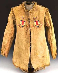 Buffalo Skin Coat   Sioux quilled hide coat; image credit on full record.