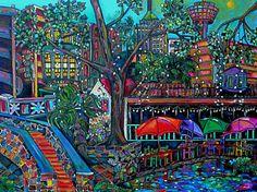 Texas Painting - Riverwalk by Patti Schermerhorn