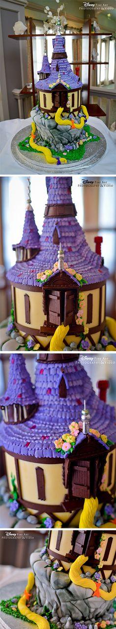 Tangled-inspired, wedding cake...oh...my...GOSH!! I love tangled!!!!!!!!!
