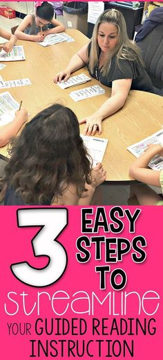 Looking to get a better handle on GUIDED READING? Look no further! This blog post will give you some great ideas to help you get your Guided Reading Instruction STREAMLINED! Check it out!