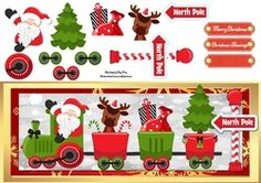 Festive Santa Train DL on Craftsuprint - View Now!