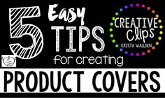 Great tips for creating TpT product covers!