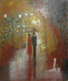 Lover Stroll by Zahraspaintings on Etsy