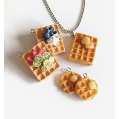Scented waffle jewelry I'd probably gain 10 lbs from owning these in cravings!!!