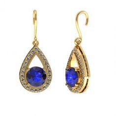14K Yellow Gold #Tanzanite #Earring, Price: $1426.
