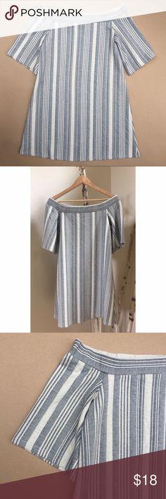 "Zara off the shoulder tunic/dress Off the shoulder tunic/dress. Length is approx 28"". The fabric is a bit heavier but will still work for summer. Zara Dresses Mini"