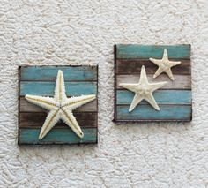 Miniature Beach Signs Starfish Dollhouse Wall by GreenGypsies