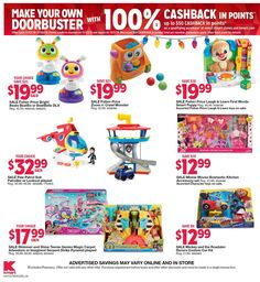 Kmart Black Friday 2018 Ads and Deals Browse the Kmart Black Friday 2018 ad scan and the complete product by product sales listing. Kmart Coupons, Black Friday News, Fisher Price, Make Your Own, Ads