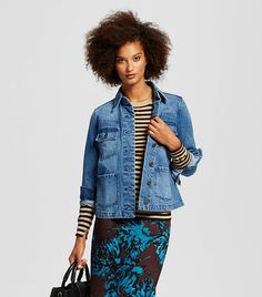 Everyone's Wearing This Designer Denim Jacket via @WhoWhatWearUK