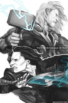 I'm not even sorry admitting it, this is the sexiest rendering of Thor and Loki I've ever seen #RealTalk